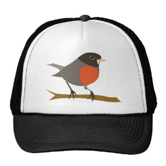 Red Breasted Robin on Branch Trucker Hat