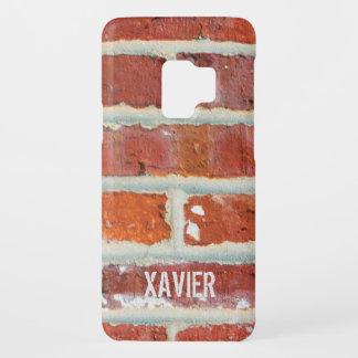 Red Brick Add Name Case-Mate Samsung Galaxy S9 Case