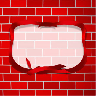 Red Brick Background Cut Out