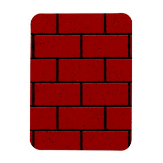 RED BRICK BACKGROUNDS RECTANGLE SHAPES GRAPHICS CO VINYL MAGNETS