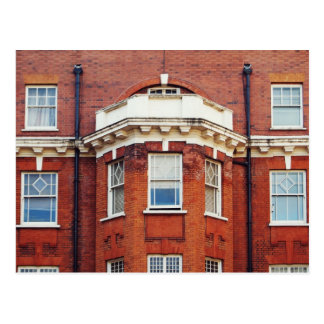Red brick building postcard