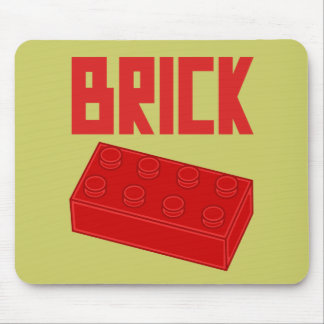 Red Brick by Customize My Minifig Mouse Pad