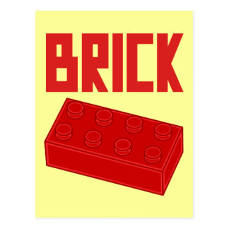 Red Brick by Customize My Minifig Postcard