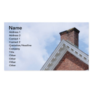 red brick chimney business card