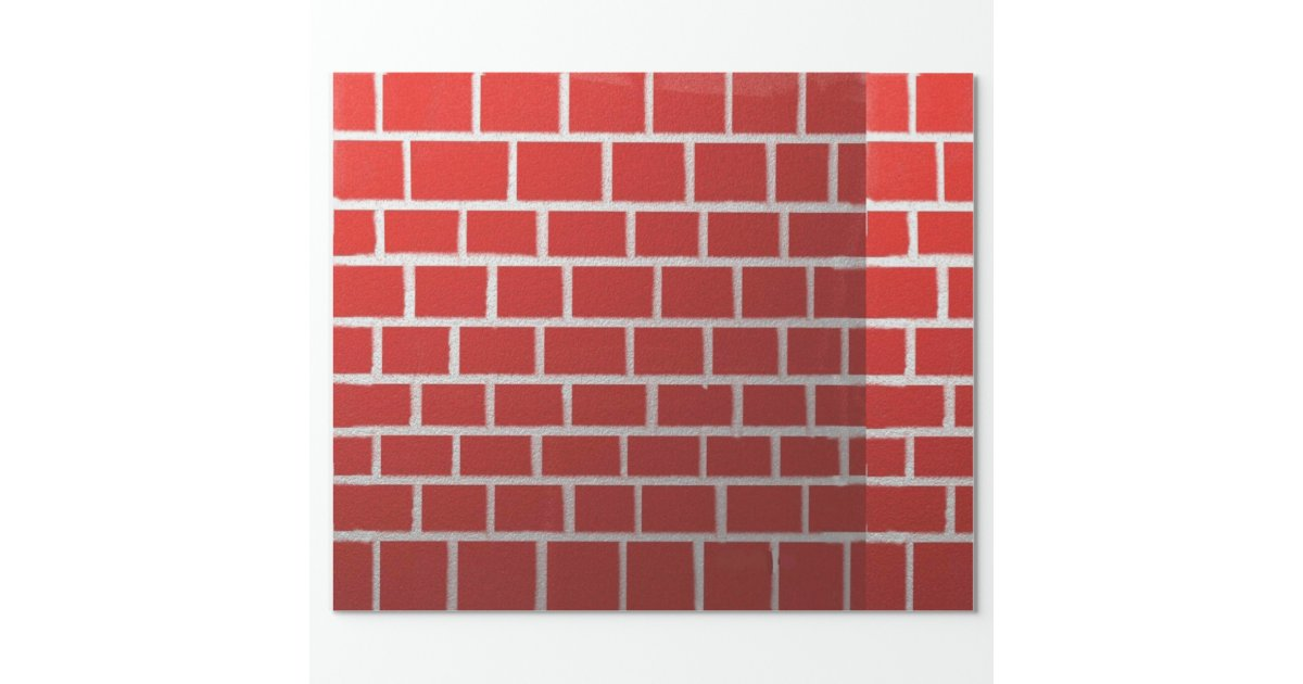 Red Brick Chimney Look Wrapping Paper Zazzle