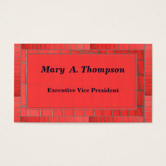 Red Brick design Business Card