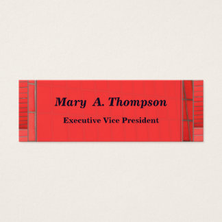 Red Brick design Mini Business Card
