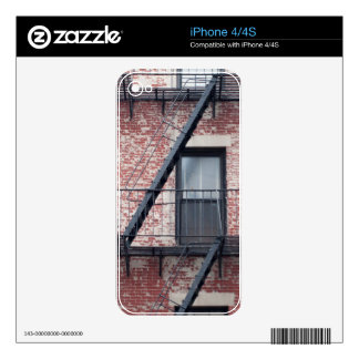 red brick facade with fire escape decal for the iPhone 4S