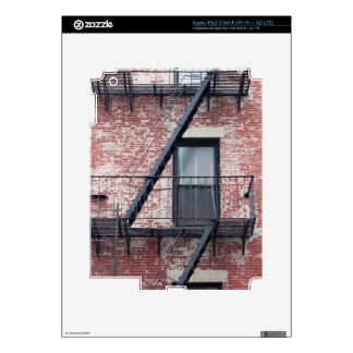 red brick facade with fire escape decals for iPad 3