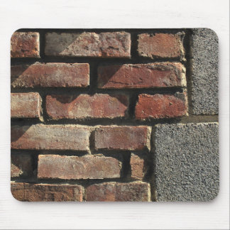 Red Brick & Stone Wall Elevation Photo Mouse Pad