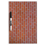 Red Brick Texture Background Dry Erase Whiteboard