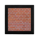Red Brick Texture Background Trinket Box