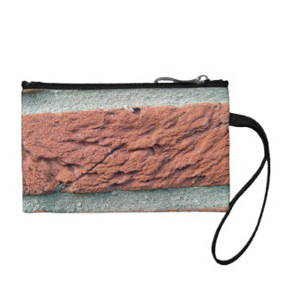 Red Brick Texture Coin Wallet