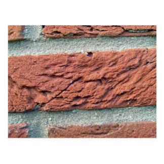 Red Brick Texture Postcard
