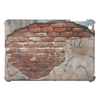 Red Brick Under Graffiti Laced Cement Wall Cover For The iPad Mini