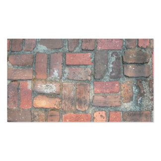 Red Brick Vintage Cobblestone texture Double-Sided Standard Business Cards (Pack Of 100)