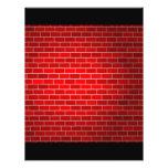 "Red Brick w/Spotlight Background 8.5"" X 11"" Flyer"