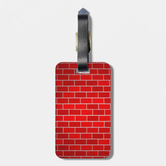Red Brick w/Spotlight Background Bag Tag