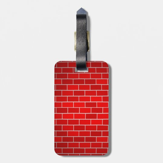 Red Brick w/Spotlight Background Bag Tag