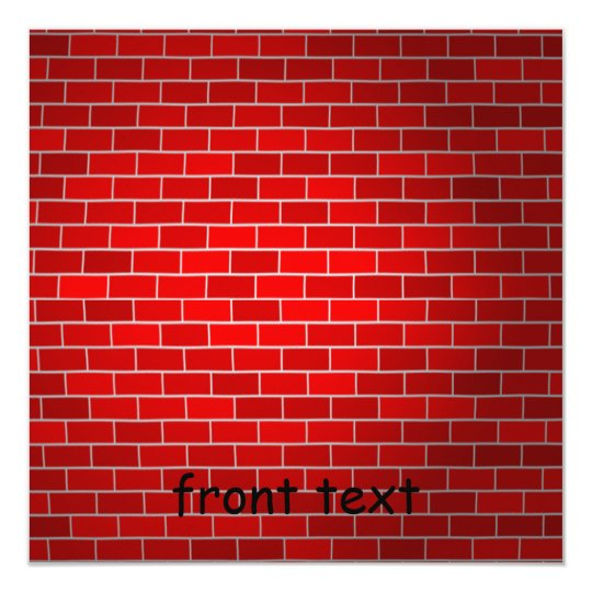 Red Brick w/Spotlight Background Card
