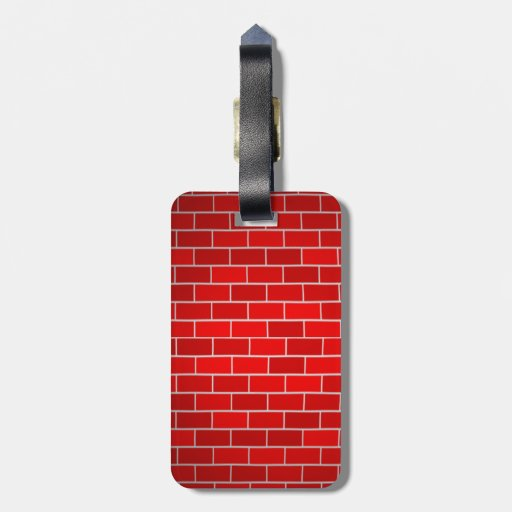 Red Brick w/Spotlight Background Luggage Tags