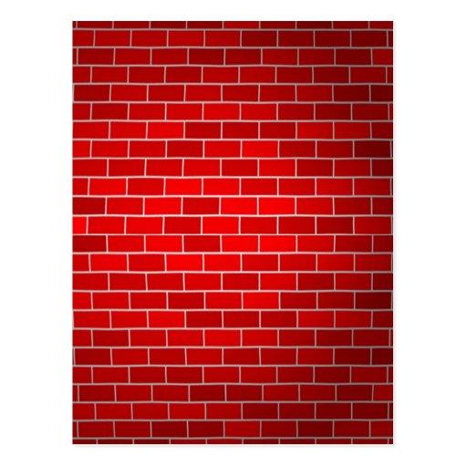 Red Brick w/Spotlight Background Post Cards