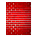 Red Brick w/Spotlight Background Post Cards