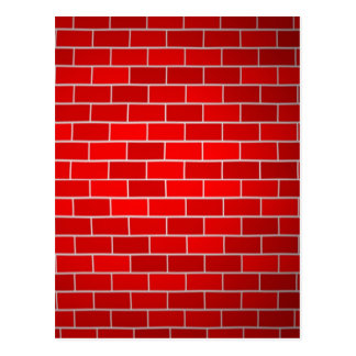 Red Brick w/Spotlight Background Postcard