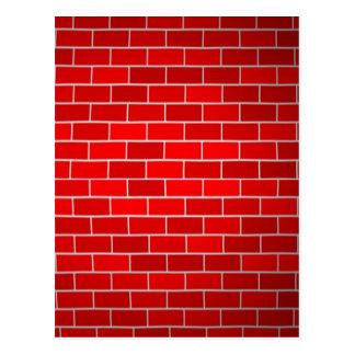 Red Brick w/Spotlight Background Postcard