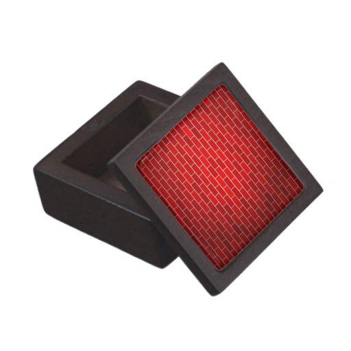 Red Brick w/Spotlight Background Premium Trinket Box