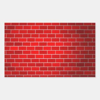 Red Brick w/Spotlight Background Rectangular Sticker