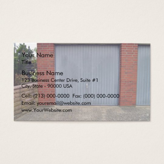 Red Brick Wall and Closed Door Business Card