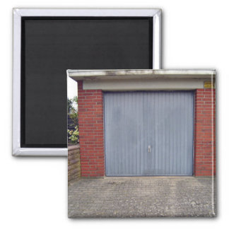 Red Brick Wall and Closed Door Magnet