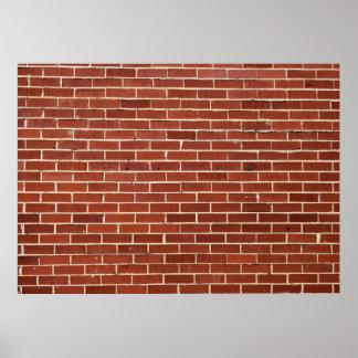 Red Brick Wall Backdrop Poster