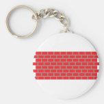 red brick wall basic round button keychain