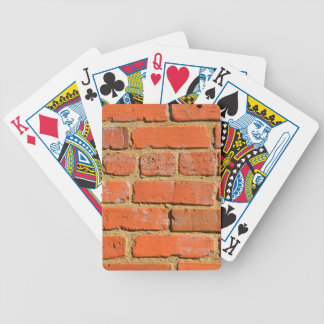 Red brick wall bicycle playing cards