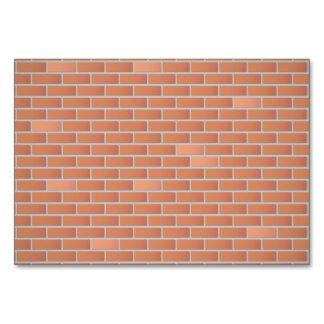 Red brick wall card