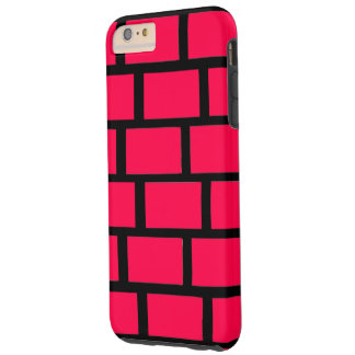RED BRICK WALL TOUGH iPhone 6 PLUS CASE