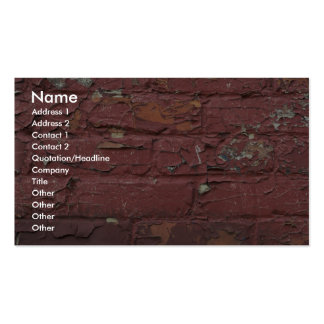 Red brick wall, chipped paint business cards