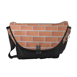 Red brick wall courier bag