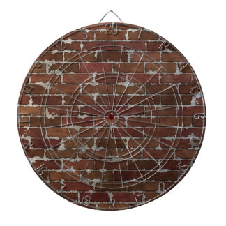 Red Brick Wall Dartboard