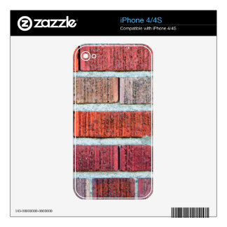 Red Brick Wall Decals For iPhone 4