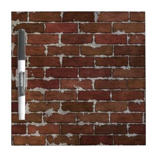 Red Brick Wall Dry-Erase Board