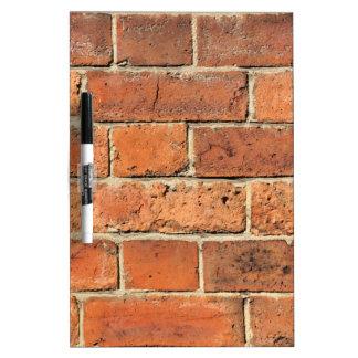 Red brick wall dry erase board