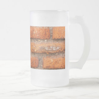Red Brick Wall Frosted Glass Beer Mug