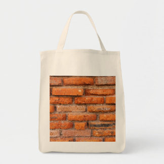 Red Brick Wall Grocery Tote Bag