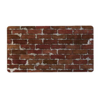 Red Brick Wall Shipping Label