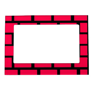 RED BRICK WALL MAGNETIC PHOTO FRAME