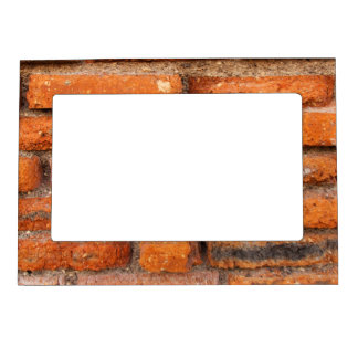 Red Brick Wall Magnetic Picture Frame
