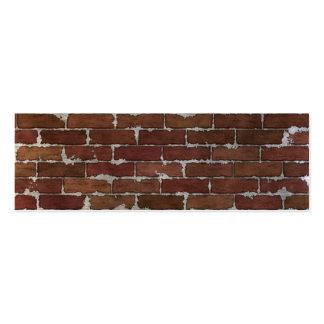 Red Brick Wall Mini Business Card